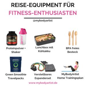 In diesem Artikel zeigen wir Dir, wie Du mit dem richtigen Trainingsequipment und der richtigen Ernährung auch im Urlaub fit bleibst.