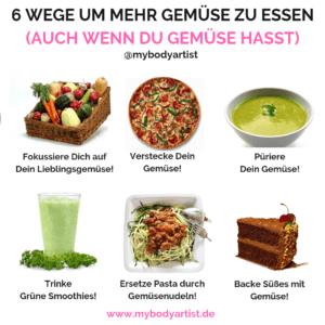 In diesem Artikel zeigen wir Dir, wie Du mehr Gemüse essen kannst und was Du tun solltest, wenn Dir Gemüse einfach nicht schmeckt.