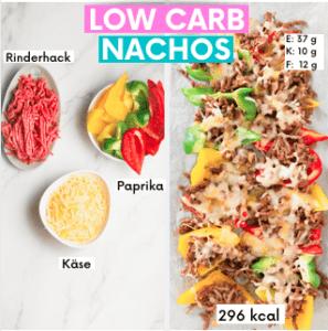 Low Carb Nachos gehören ebenfalls zu meine Lieblings Snacks zum Abnehmen.