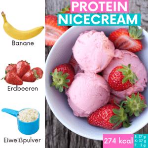 Nicecream gehört zu meinen Lieblings Snacks zum Abnehmen. Klick hier für das Rezept!!